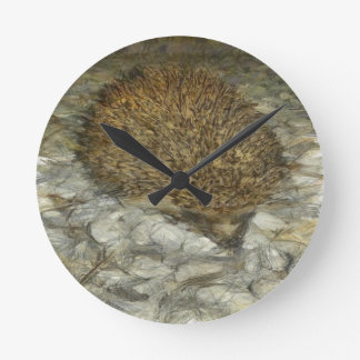 Hedgehog Round Clock