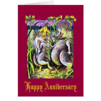 Hedgehog Ruby Wedding Card