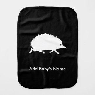 Hedgehog Running Burp Cloths