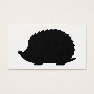 Hedgehog Silhouette Business Card