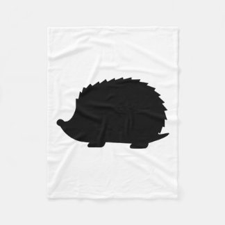 Hedgehog Silhouette Fleece Blanket