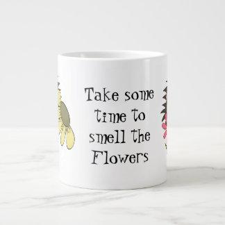 Hedgehog Smell The Flowers Jumbo mug