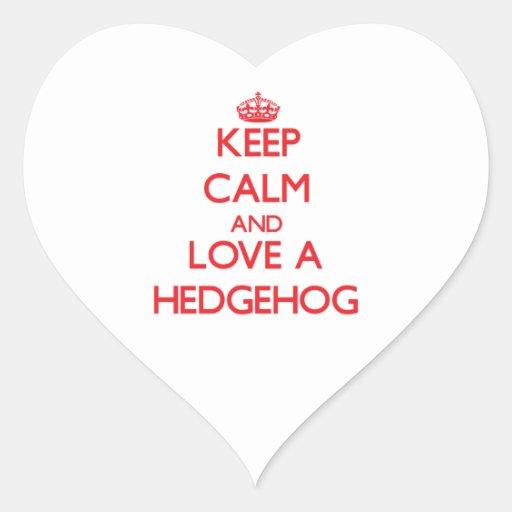 Hedgehog Heart Sticker