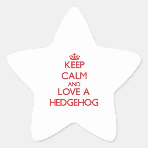 Hedgehog Star Stickers