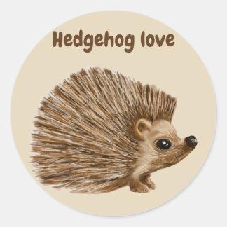 Hedgehog sticker scrapbooking fun,  stickers