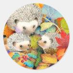 Hedgehog Stickers (Autumn Version)