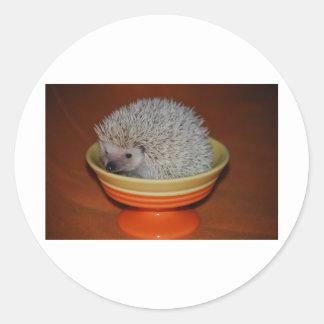 Hedgehog Sundae Round Sticker