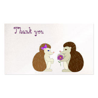 Hedgehog Thank you card Pack Of Standard Business Cards