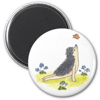 Hedgehog Upward Facing Dog Magnet