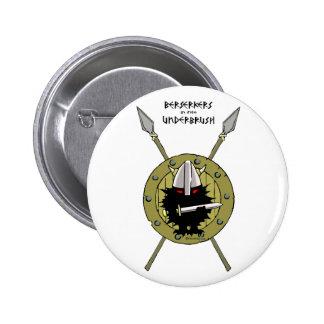 Hedgehog Viking on Shield 2 Inch Round Button