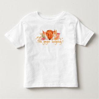 Hedgehog watercolor toddler fine jersey t shirt