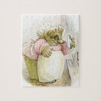 Hedgehog with Iron Mrs Tiggy-Winkle Jigsaw Puzzle