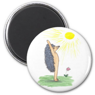 Hedgehog Yoga, Mountain Pose (Arms Stretched Up) Magnet