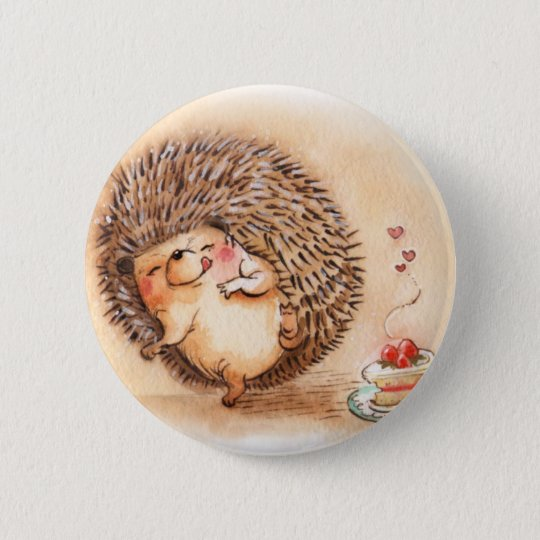 Hedgehog YUM! 2 Inch Round Button