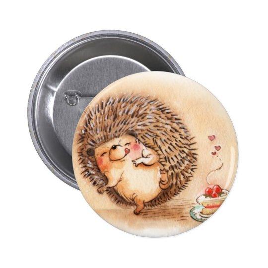 Hedgehog YUM! 2 Inch Round Button