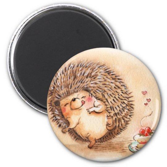 Hedgehog YUM! 2 Inch Round Magnet