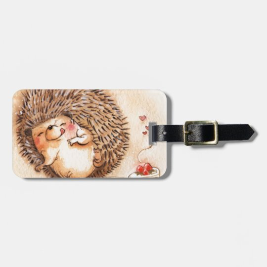 Hedgehog YUM! Bag Tag