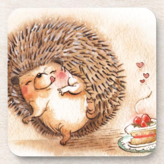 Hedgehog YUM! Beverage Coasters