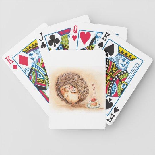 Hedgehog YUM! Bicycle Playing Cards