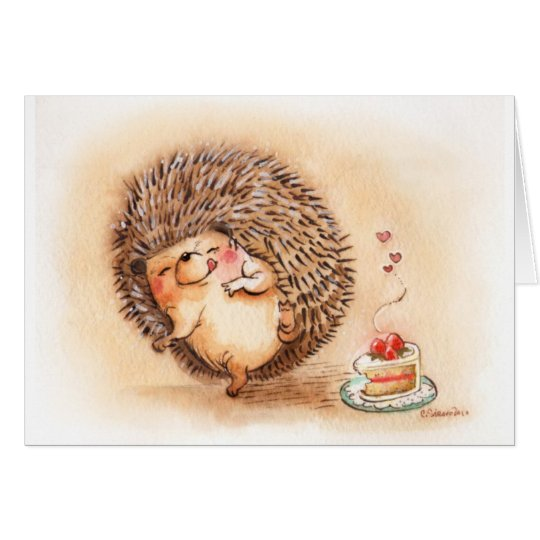 Hedgehog YUM! Card