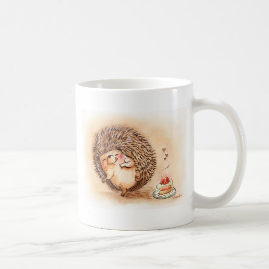 Hedgehog YUM! Coffee Mug