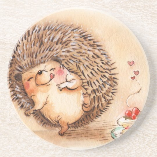 Hedgehog YUM! Drink Coasters