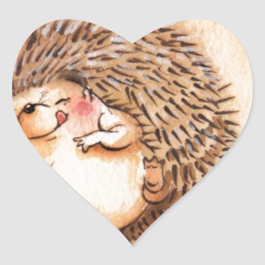 Hedgehog YUM! Heart Sticker