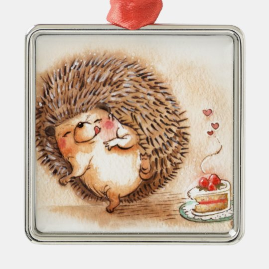 Hedgehog YUM! Metal Ornament