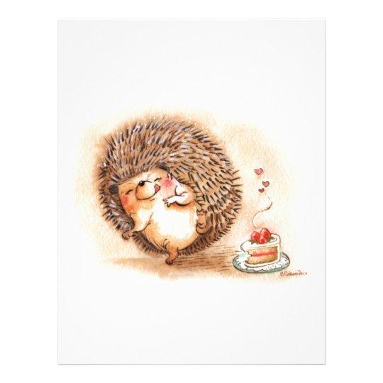 Hedgehog YUM! Personalized Letterhead