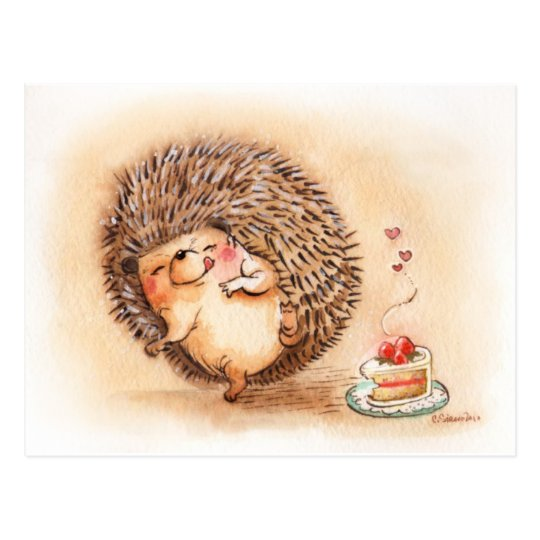 Hedgehog YUM! Postcard