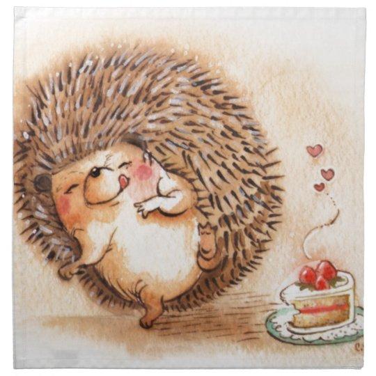 Hedgehog YUM! Printed Napkin