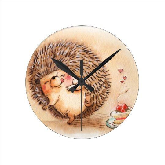 Hedgehog YUM! Round Clock
