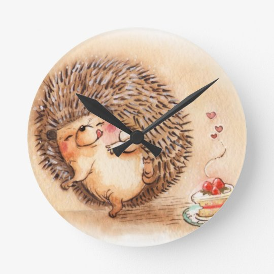 Hedgehog YUM! Wallclock