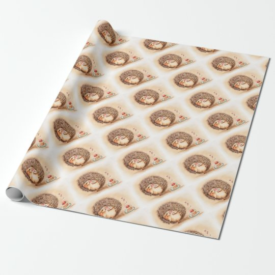 Hedgehog YUM! Wrapping Paper