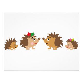 hedgehogs family letterhead