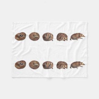 Hedgehogs in a line fleece blanket