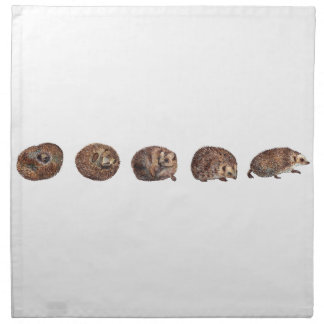 Hedgehogs in a line napkin