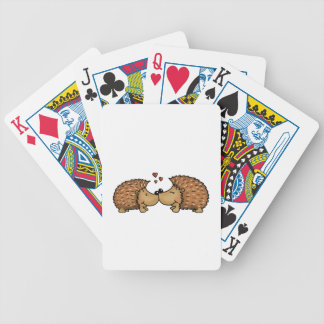 Hedgehogs in Love Bicycle Playing Cards