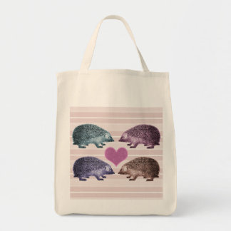 Hedgehogs in Love - Four Adorable Hedgehogs Tote Bag