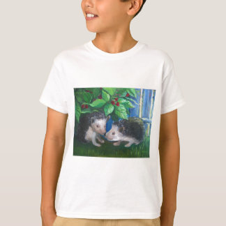 Hedgehogs in love oil painting T-Shirt