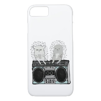 Hedgehogs on boombox Case-Mate iPhone case