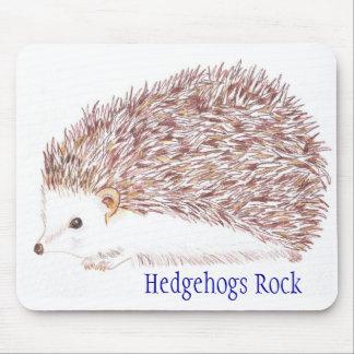 Hedgehogs Rock Mouse Pad