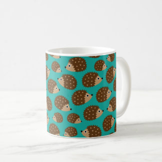 Hedgehogs seamless pattern (ver.1) coffee mug