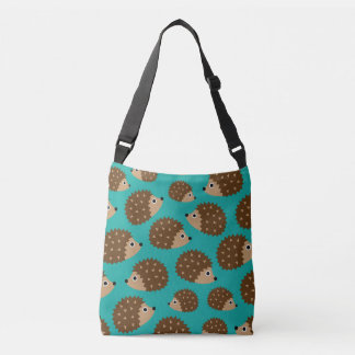 Hedgehogs seamless pattern (ver.1) crossbody bag