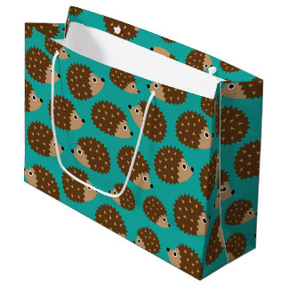 Hedgehogs seamless pattern (ver.1) large gift bag