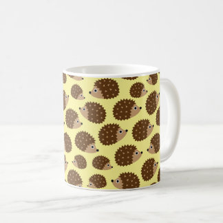 Hedgehogs seamless pattern (ver.2) coffee mug