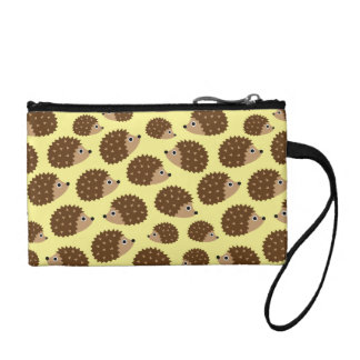 Hedgehogs seamless pattern (ver.2) coin purses