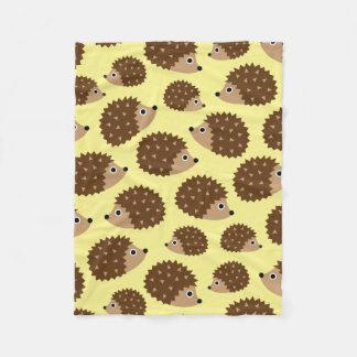 Hedgehogs seamless pattern (ver.2) fleece blanket
