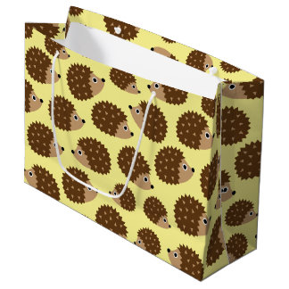Hedgehogs seamless pattern (ver.2) large gift bag