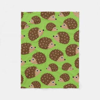 Hedgehogs seamless pattern (ver.3) fleece blanket